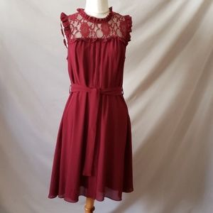 Romeo and Juliet Burgundy Lace dress